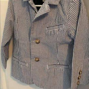 •toddler boy• 3pc. casual suit set - navy/white